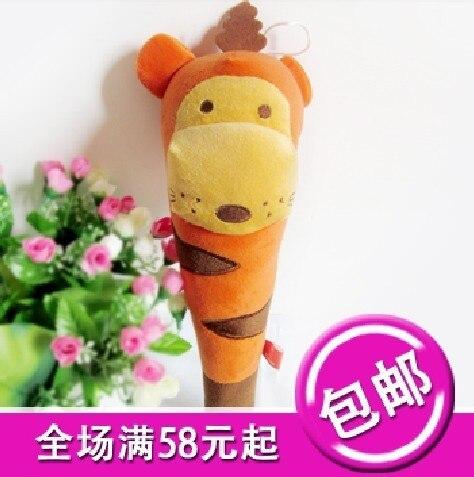 Small Cartoon Massage Hammer To Knock Back,Children Gift Doll Orange Tiger