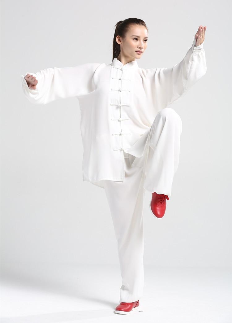 Chinese Kung Fu 100%Cotton  Tai Chi Uniform Unisex Martial Arts Clothing Wushu Suit Morning Exercise Suit