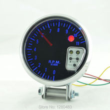 3 75 inches 95MM Analog tachometer car alarm function with blue sunglasses Sebeijingdeng 0 11 RPM