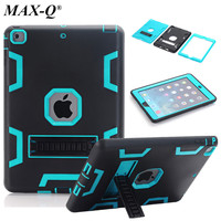 Hybrid Armor Case For IPad 5 Air 1 Kids Safe Shockproof Heavy Duty Silicone Hard Case