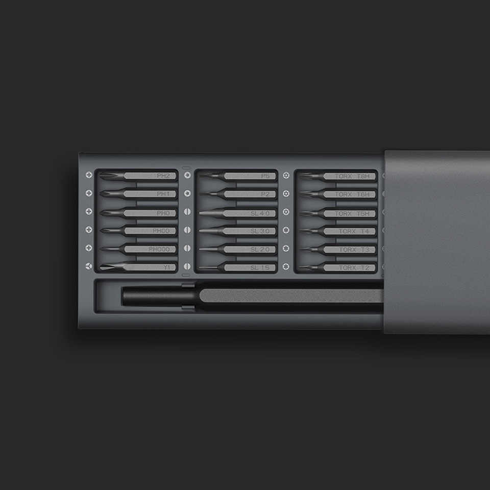 New Arrival Xiaomi Mijia Wiha Daily Use Screwdriver Kit 24 Precision Magnetic Bits Alluminum Box Wiha DIY Screw Driver Set