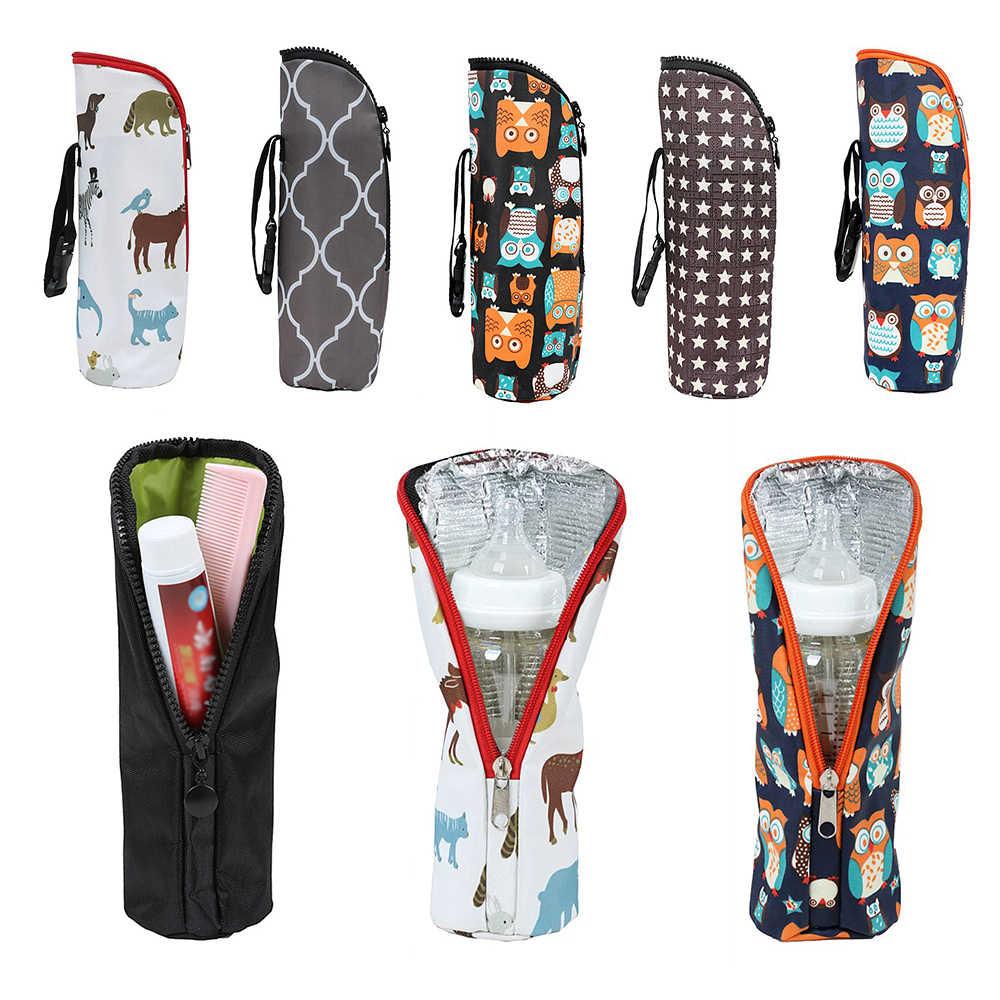 Baby Water Milk Warmers Bottle Holder Bags Portable Baby  Feeding Bottle Insulation Bag Stroller Bottle Hanging Bag Accesso