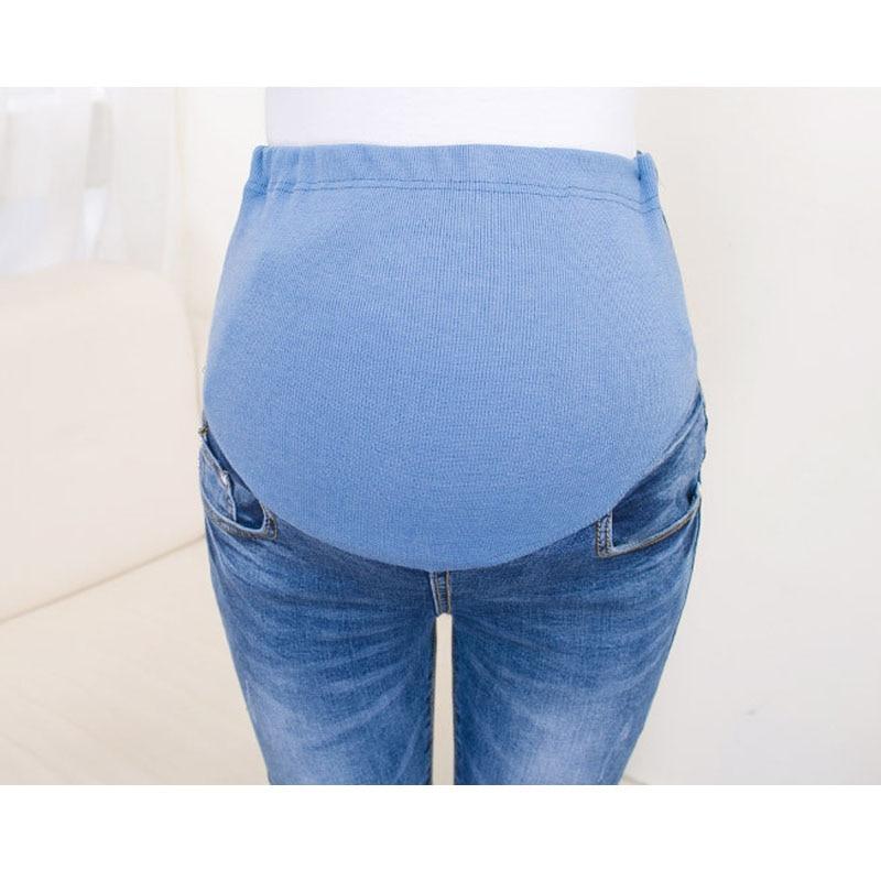 9bd6c7763 Abdominal Jeans para mujeres embarazadas Denim Skinny pantalones enfermería  maternidad ropa elástico cintura embarazo pantalones ropa de otoño en  Pantalones ...