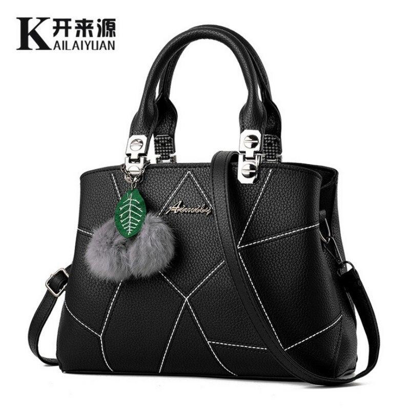 KLY 100% Genuine leather Women handbags 2019 New tide spring zipper bag ladies fashion handbag Crossbody on behalf of a single
