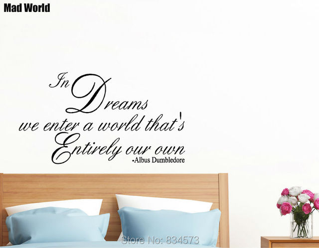 Mad World In Dreams We Enter A World Quote Wall Art Stickers Wall