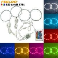 4X120mm Samochodów 5050 SMD RGB Flash LED Angel Eyes Halo Pierścień Światła Dzienne Dla BMW E30/E32/E34 # FD-4409