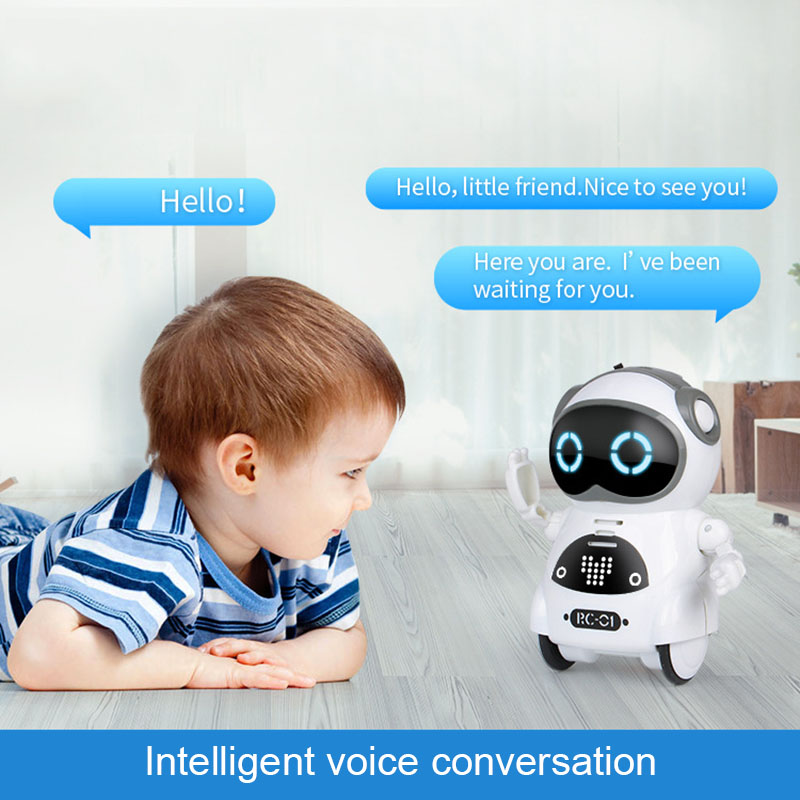 Multifunctional Electric Voice Smart Mini Pocket Robot Early Educational Interaction Tale Robot M09