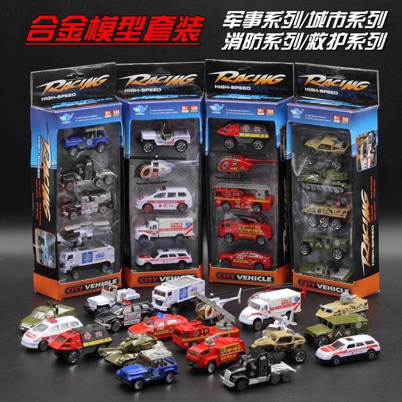 Legering automodelpakken, brandweerwagens / de ambulance / auto / militaire modelstad, speelgoedautomodel.