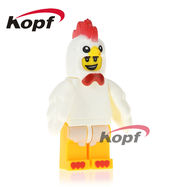 20Pcs PG1031 Building Blocks Super Heroes Chicken Suit Rocket Boy Unicorn Girl Inhumans Royal Family Bricks Children Gift Toys