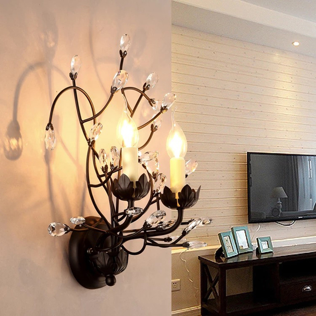 Eenvoudige moderne LED gold K9 crystal indoor lamp woonkamer ...