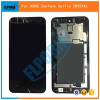 FLPORIA Black LCD Display Glass Touch Screen Digitizer Assembly Frame For ASUS Zenfone Selfie ZD551KL Replacement