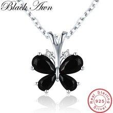 Романтическая бабочка, Новое поступление, 925 пробы серебряные ювелирные изделия, трендовые цветочные ожерелья и кулоны для женщин KK016