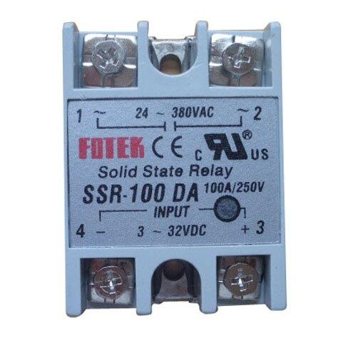 2016 High Quality SSR-100 DA Soild State Relay SSR-100 DA DC-AC 100A/250V 3-32VDC/24-380VAC T0760 T150.7 1pcs free shipping ssr soild state relay radiator radiator fin other spare parts mini