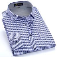 New 2016 Spring Men S Classic Turn Down Collar Long Sleeve Multi Plaid Shirts Light Weight