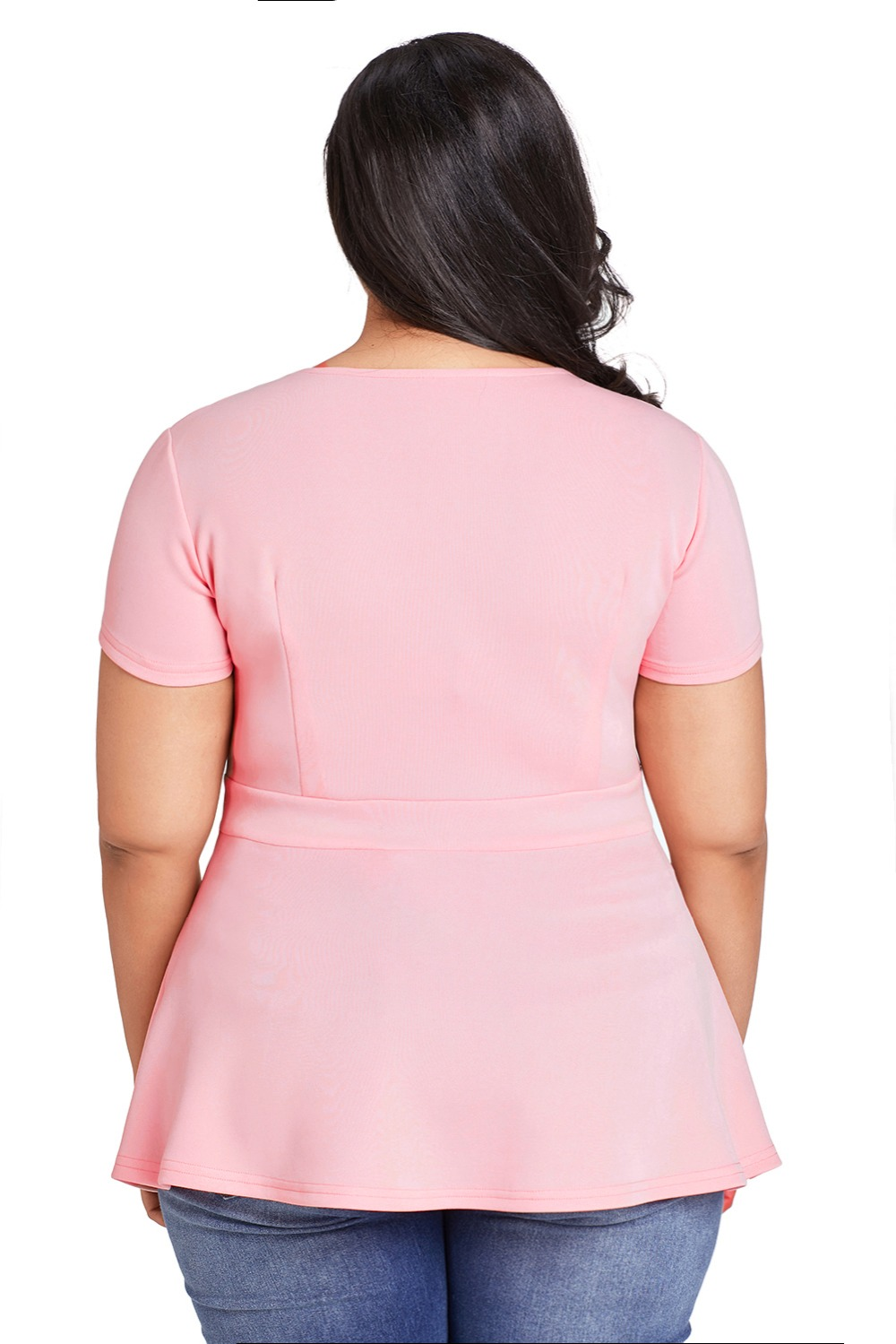 Pink-Plus-Size-Caged-Top-LC250752-10-2