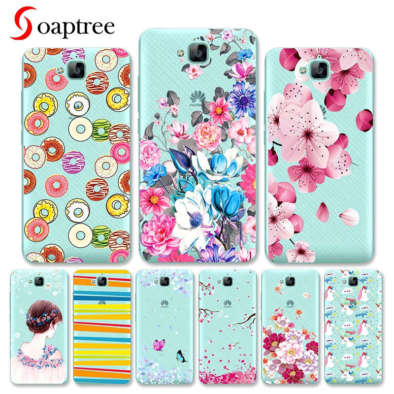Silicon Phone Cases For Huawei Honor 4c Honor4C Pro Case Cover for Huawei y6 pro Case Soft TPU Cover Honor Holly 2 Plus Coque in Fitted Cases from Cellphones Telecommunications