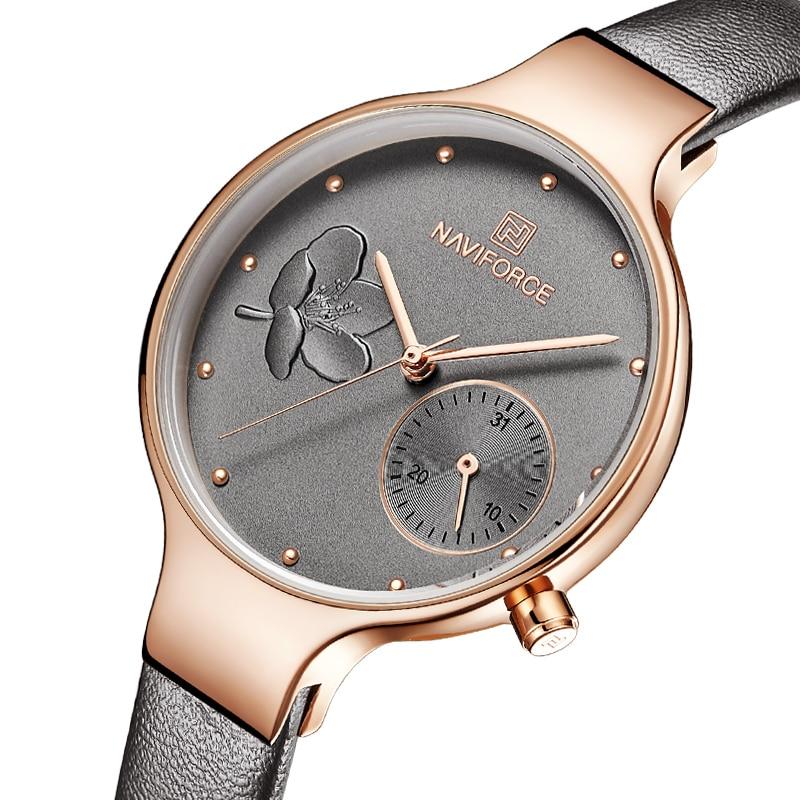 Femmes Montres Top Marque De Luxe Dames Quartz Montre Femme Cuir Véritable Mince Montre-Bracelet De Mode Casual Horloge Relogio Feminino