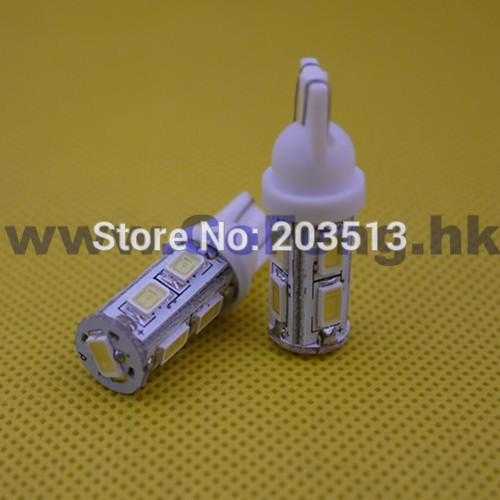 10PCS/lot wholesale Auto led car lighting wedge t10 9smd 5630smd 9 leds 194 168 192 white & blue FREE SHIPPING