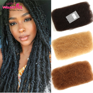 Wonderful Brazilian Afro Kinky Bulk Hair 100% Remy human Hair For Braiding No Weft 50g/Pc Natural Color , Fast Ship