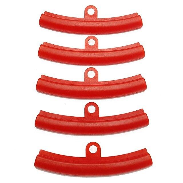 5 pcs 자동차 타이어 빨간색 고무 가드 림 프로텍터 타이어 휠 변경 림 가장자리 보호 도구 폴 리 에틸렌