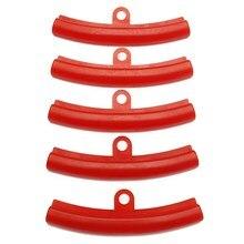 5 sztuk samochodów opon czerwony gumowa osłona ochraniacz obręczy opona koła zmiana krawędzi obręczy narzędzia do ochrony polietylenu