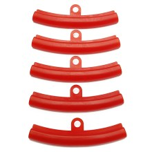 5pcs Car Tire Red Rubber Guard Rim Protector Tyre Wheel Changing Rim Edge Protection Tools Polyethylene