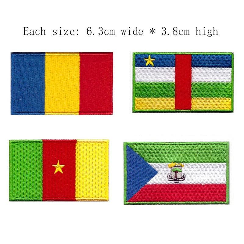 REPUBLIC OF ZIMBABWE ZIMBABWEAN NATIONAL FLAG Sew on Patch Free Shipping