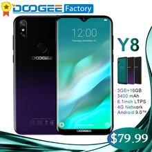 DOOGEE Y8 6.1 inç Waterdrop Ekran Smartphone 3 GB 16 GB 8MP + 5MP Yüz KIMLIĞI Android 9.0 MTK6739 Quad -çekirdek 3400 mAh 4G LTE...