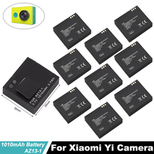 10Pcs  wholesale xiaoyi Batteries 1010mAh 3.7V AZ13-1 Li-ion bateria For Xiaomi yi camera battery  Yi Action camera accessories стоимость