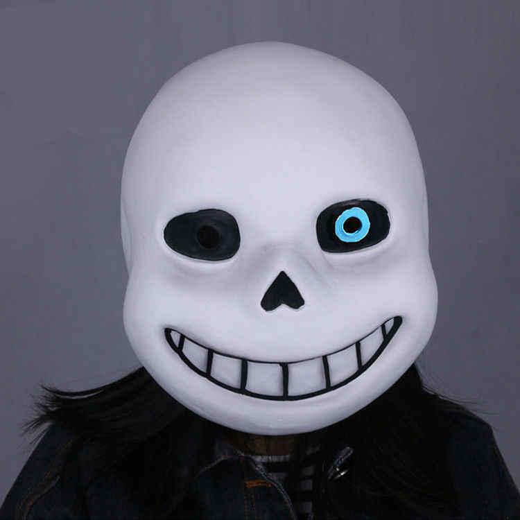 Undertale Sans Blue Eyes Full Head Mask Latex Helmet Halloween Cosplay Prop Cool Cosplay Props Cosplay Helmetcosplay Halloween Aliexpress
