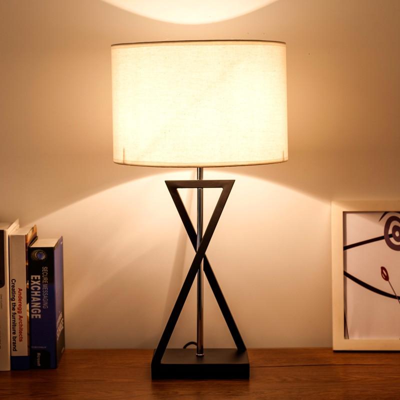 Американский Спальня прикроватной тумбочке лампа Nordic творческий современный минималистский исследование личности гостиничном номере нас...