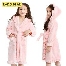 Детский фланелевый банный халат; детская пижама из кораллового флиса для девочек; одежда для сна; детское зимнее полотенце с капюшоном; халаты; пижамы для малышей; теплая ночная рубашка