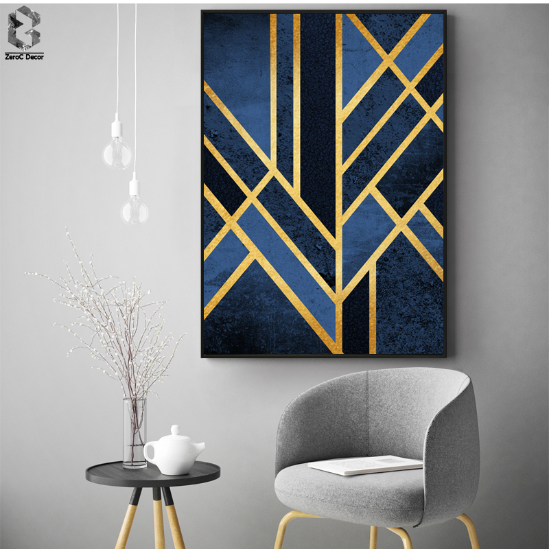 Classic Linear Geometric Canvas Painting Wall Art Posters and Prints Nordic Marble Wall Picture for Living Room Home Decor in Painting Calligraphy from Home Garden