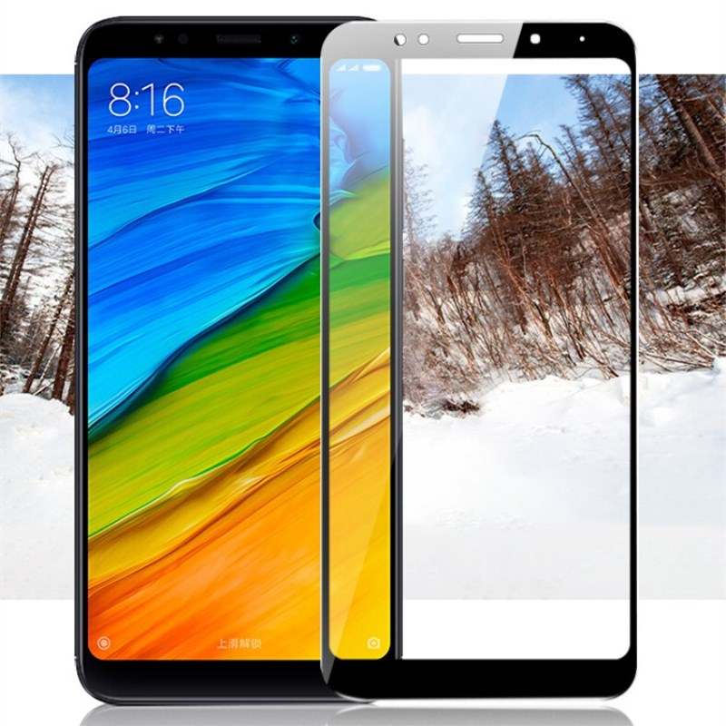 For Xiaomi Redmi 5 Plus Glass Redmi5 Screen Protector Full Cover White And Black Protect Film For Xiaomi Redmi 5 Tempered Glass