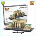Г-н Froger LOZ Игрушки Бранденбургские Ворота Модель Мини Архитектура Блоки Строительные Кирпичи Творческий Дизайн Игрушки Для Детей Дети DIY
