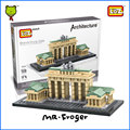 Mr.Froger LOZ Toys Brandenburg Gate Model Mini Architecture Blocks Building Bricks Creative Designs Toys For Kids Children DIY
