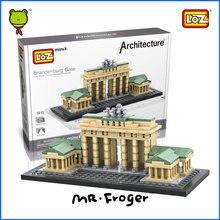 Г-н Froger Бранденбургские Ворота LOZ Миниблок Всемирно Известный Архитектура Серии Minifigures Строительные Блоки Классические Игрушки Детей