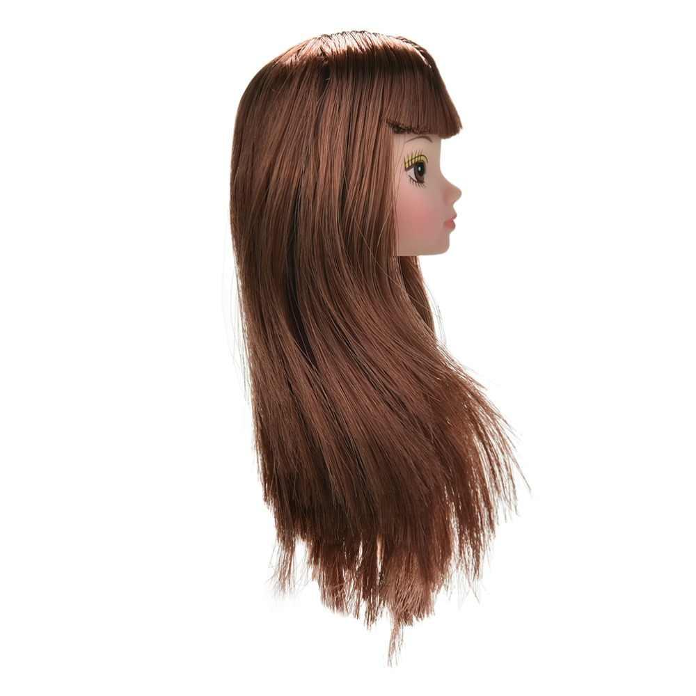 Toyzhijia 1 pçs cabeça de cabelo dourado s para boneca diy accessorie moda olho grande boneca criança brinquedos diy melhor presente para meninas