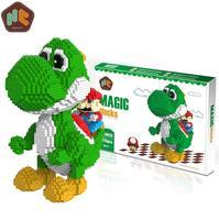 HC Magic Blocks Nintendo Blocks Super Mario Yoshi Blocks DIY Building Anime Toys Auction Model Toy Kids Gifts HC9020