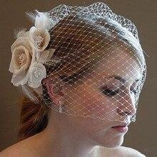 Элегантные Свадебные шляпы для женщин, свадебные аксессуары для волос, свадебные шляпы и вуалетки ручной работы, цветы, головной убор с расческой