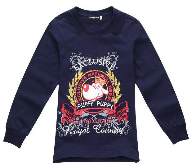 acbd7fbf6 Freeshipping Autumn white blue cotton Children boy girl Kids cute dog  pattern long sleeve sweater tshirt T shirt PEXZ01P81
