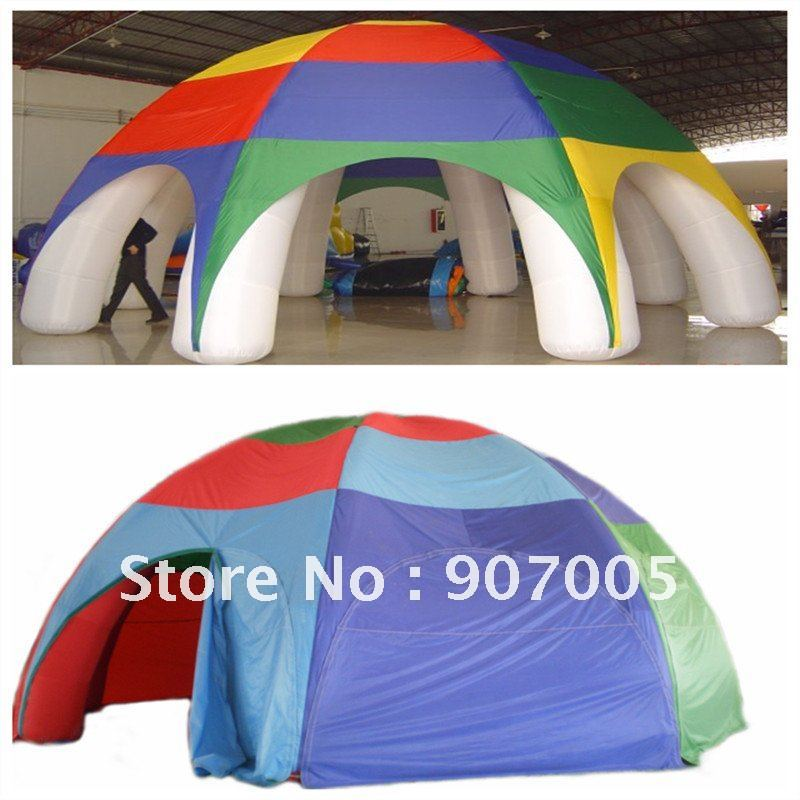 TNT09 Crazy Price 8m Inflatables legged Dome Ttent Oxford+ Free Reapir kits + Free CE/UL Blower + Free Shipping