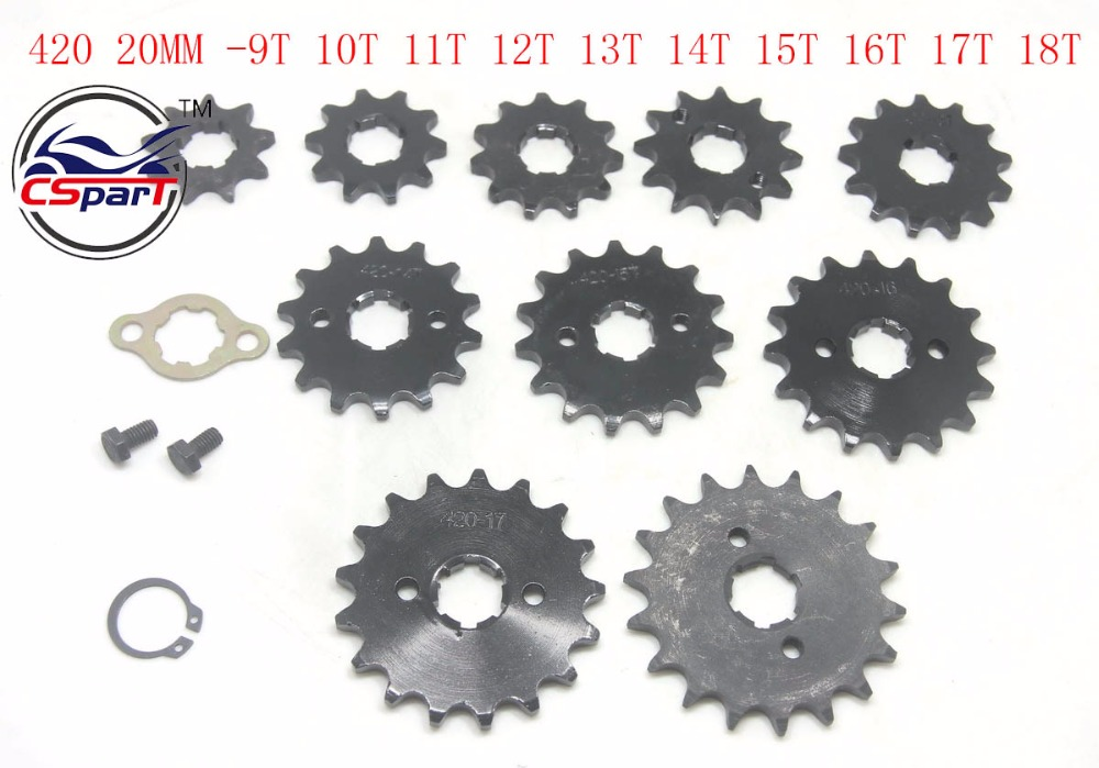 9T 10T 11T 12T 13T 14T 15T 16T 17T 18T Tooth 420 ID 20MM Motorcycle Front Engine Sprocket For Honda Dirt bike Motorcycle motorcycle 530 17t 43t front