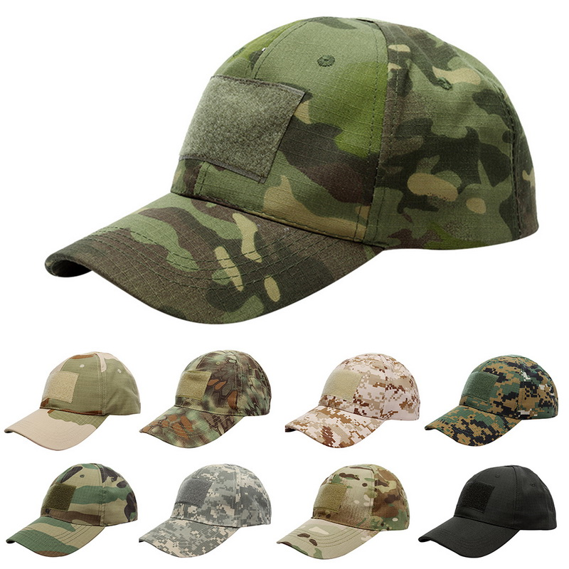 Fashion 17 Pattern For Choice Snapback Camouflage Tactical Hat Patch Army Tactical   Baseball     Cap   Unisex ACU CP Desert Camo Hat