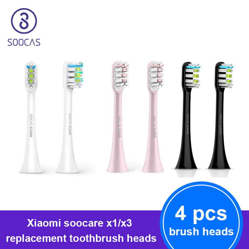 SOOCAS X3 X1 X5 Tooth Brush Head Original Xiaomi Mijia Toothbrush Heads Replacement For SOOCARE Sonic Electric Tooth Brush Heads