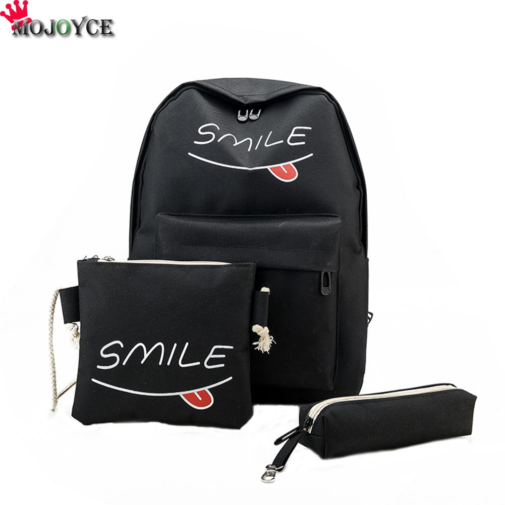 Women's Bags 3pcs Heart Printing Backpack Set Bowknot Primary Schoolbag Travel Daypack Shoulder Bag Pencil Case Teenagers Girls Fashion Bags Ture 100% Guarantee Luggage & Bags