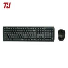 THU клавиатура и мышь комбо Водонепроницаемый 2,4 ГГц ультра тонкий компактный портативный небольшой беспроводной набор для ПК настольного ноутбука