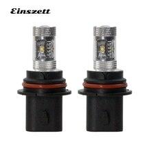 Einszett 2pcs 9004 9007 White Car Front LED Fog lights DRL Light 600LM 6SMD 30W 12V LED Fog Lamp