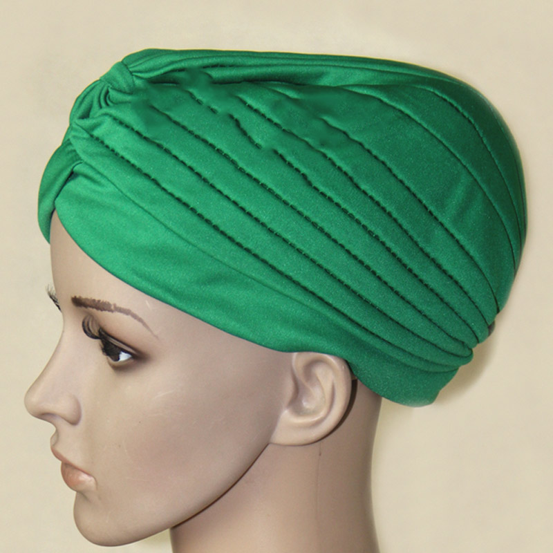 Fashion Women Hijab Turban Headwrap Cap Islamic Solid Hat Muslim Indian Caps New -MX8