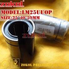 ZOKOL LM25 UU OP teniendo LM25UUOP abierto rodamiento de movimiento lineal 25*40*59mm